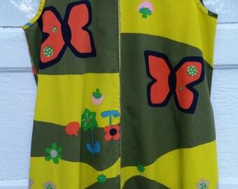 sixties dress- plus size mod sleeveless shift style housedress dress