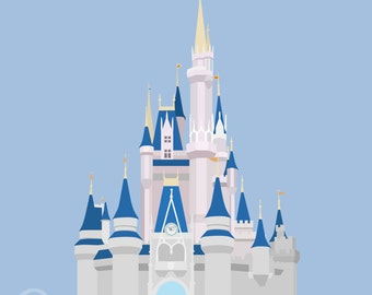 Cinderella's Castle Minimalist Poster
