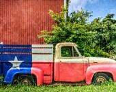 Texas Truck landscape - decorative photography print - wall art - home decor - textured landscape photo - multiple sizes