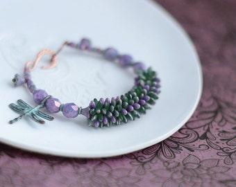 """Beaded bracelet """"Lavender Dream"""""""