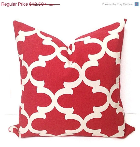 Big Red Throw Pillows : BIG SALE Red Decorative Pillow Pillows Pillow by ThePillowFight