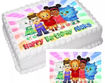 On Sale- Personalized Edible Icing Frosting Image Birthday Sticker Decal Decoration Cake Topper Cartoon TV Kids Neighborhood (E543)