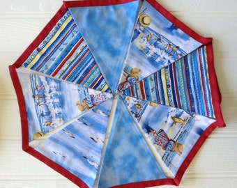 Seaside bunting or banner