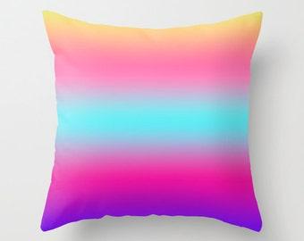 Colorful sunset Throw Pillows Modern Minimalist Sunset Decor Pillow cover Cushion cover Pillow case Accent pillow Couch pillow Decore pillow