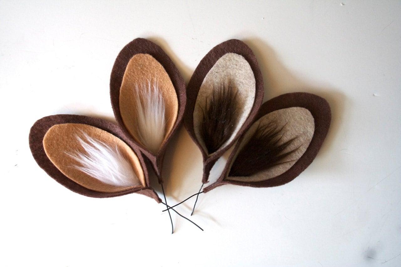 faun ears deer costume ears. Black Bedroom Furniture Sets. Home Design Ideas