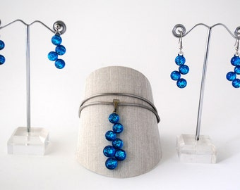 Glassberry Earring or Necklace Aqua