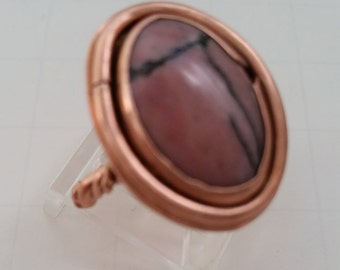 Pink Agate ring