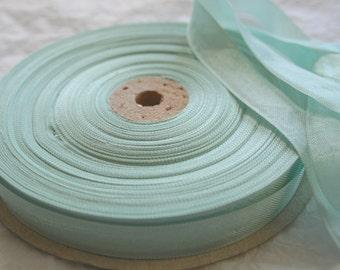 "Seam Binding Ribbon, 5/8"" MINTY ROBINS EGG"