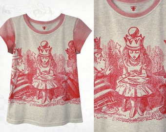 Red Queen Alice Cotton T-shirt~Grey marle