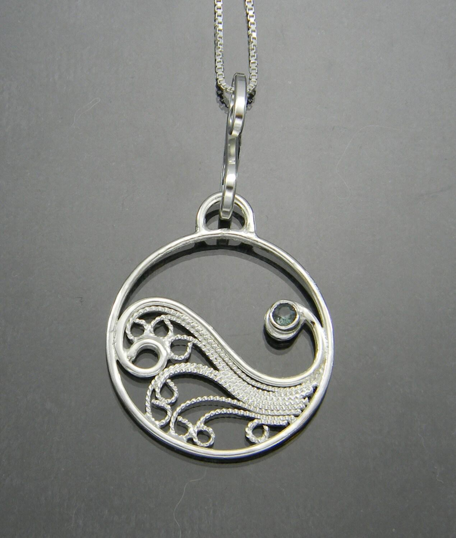 sterling silver filigree pendant filigree pendant filigree