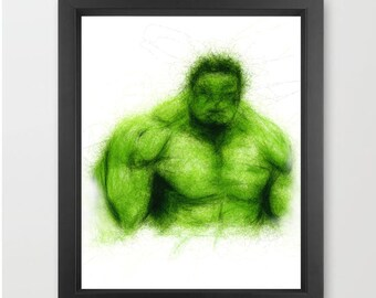 Hulk INSTANT DOWNLOAD, Marvel comics, Hulk Smash, kids room, wall decor, superhero - Comic Fan art Print