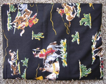 Cowboy and Indian Print Back Warmer Corn Cozie