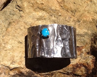 Turquoise and Silver Cuff Bracelet