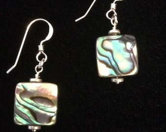 Abalone shell earrings #1