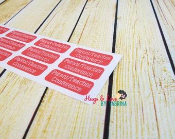 Parent Teacher Conference Planner Sticker - Size Customize-able