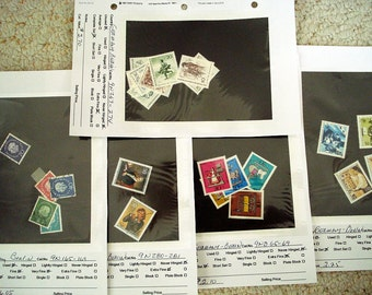 Stamp Collecting 20 Berlin Germany Unused  and Used Stamps from 1960s Cataloged