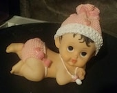 GIRL crawling  baby  for Christening  baptism birthday baby shower  Centerpieces accenting any party decoration
