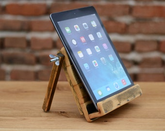 iPad Dock Tablet stand Wooden iPad Air stand Wooden Tablet station Handmade iPad stand