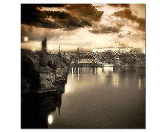 Charles Bridge Photo, Prague, Czech Republic, Prague Castle, Copper, Fine Art