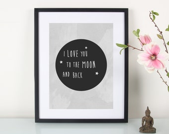 Artprint, Moon""