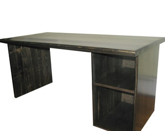 Computer Desk, FREE SHIPPING, Rustic, Modern, Ebony, Custom made