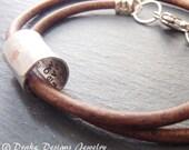 Personalized leather Anniversary Gifts for Men Hidden message bracelet gift for husband secret message bracelet