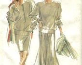 Simplicity 6010 Size 8-18 Bust 31.5-40 Top Skirts Retro 1990s Sewing Pattern Uncut