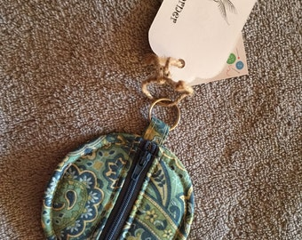 Keychain zipper pouch