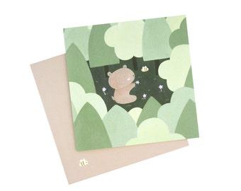 Bear & Bee Greeting Card