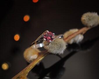 Mesmerizing Red Spinel Ring Silver Spinel Ring Mogok Spinel Engagement Ring Natural Spinel Crimson Red Spinel