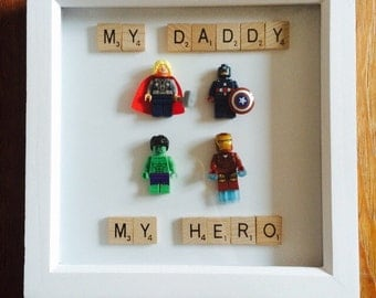 My Daddy, My Hero - Picture Frame Perfect Gift For Dads Birthday Or Christmas