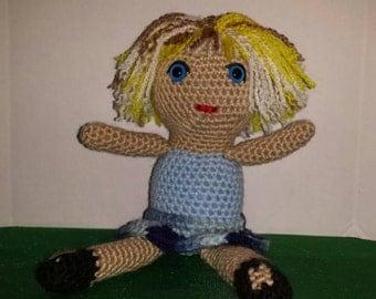 Crocheted Girl Doll