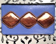 Bronze Metal Birth Control Case - Birth Control - Pill Case - Case - Beaded Case - Lavender Case - Charm Case