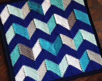 Pattern - BabyLove Brand Beach Hut Blanket Pattern - Crochet Pattern - square or rectangle throw - blanket is also available
