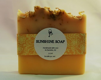 Sunshine Vegan Cold Process Handmade Soap
