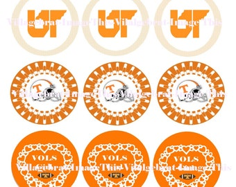 Pre-Cut One Inch Circle Univ of Tennessee Images