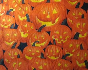 Halloween Pumkin Fabric    destash 221