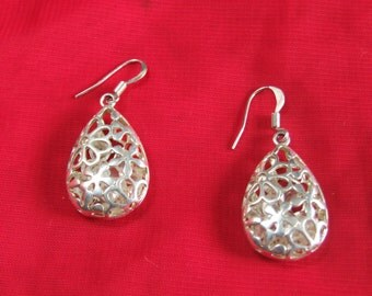 Chandelier Earrings filled with glass beads