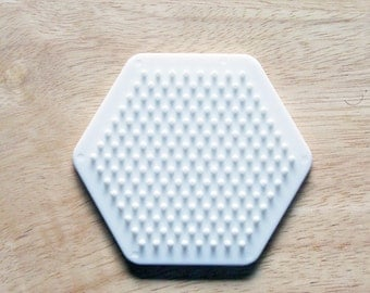 Perler Bead White Hexagon Pegboard, Ironing Paper, Instructions, Craft Supply, Church Crafts