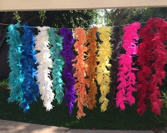 Dyed strung chicken feathers 1 yard