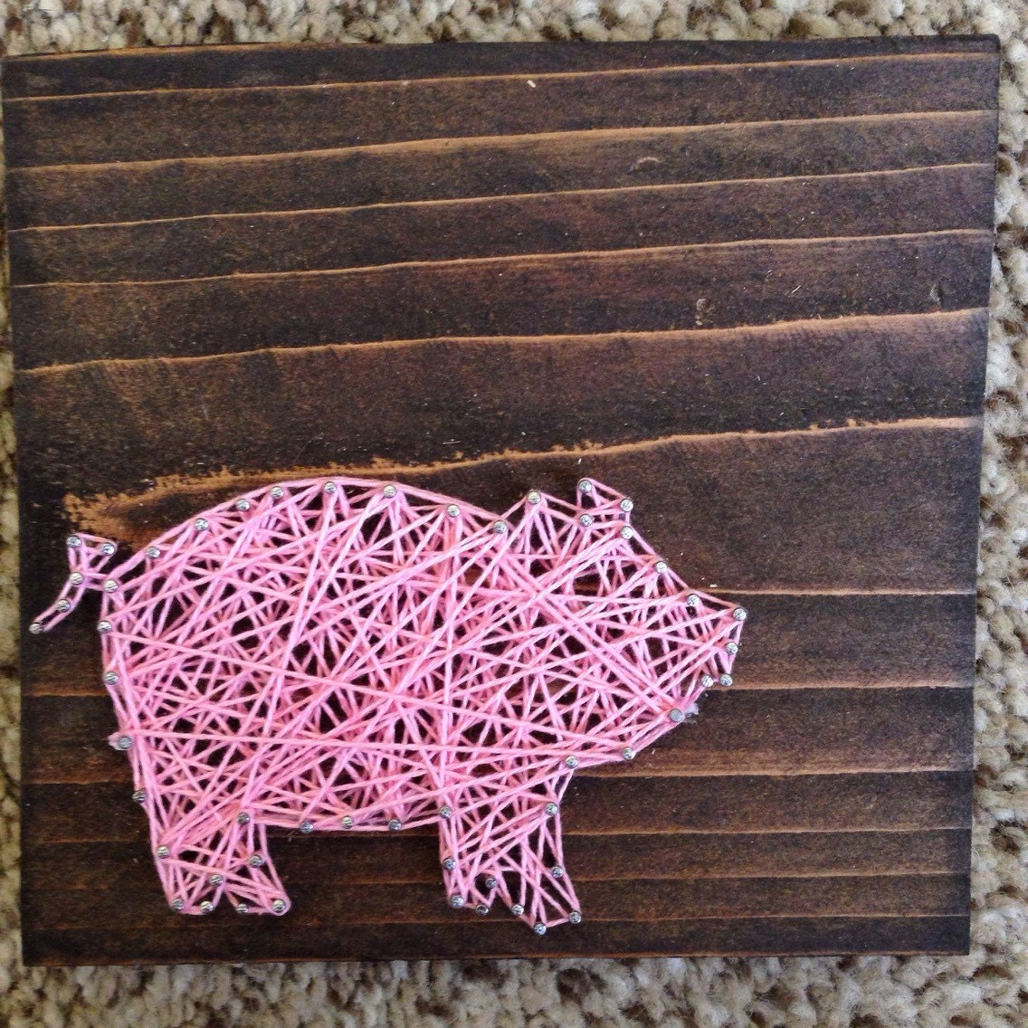 50 off sale mini string pig 5 5 x 5 5 for String art patterns animals