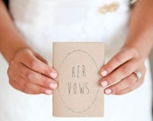 Wedding Vow Books - Jotter Size Wedding Vow Books - Rustic Wedding Vow Books ~~