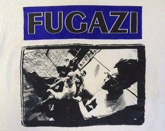 FUGAZI Shirt 90's Vintage/ Glen E. Friedman Original Photo Tshirt/ Punk Rock Hardcore Ian MacKaye Minor Threat Tee