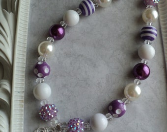 "The "" Sofia "" Inspired  Necklace "" - Toddler, Girls, Birthday, Photo Prop LAST ONE."