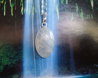 Island Goddess Rainbow Moonstone Pendant Gentle and Healing Energy