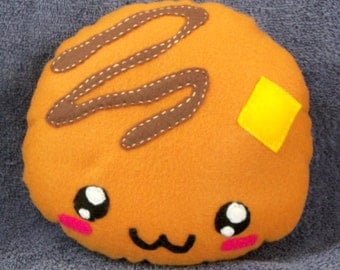 Felt Breakfast Pancake Plush Plushie Made to Order