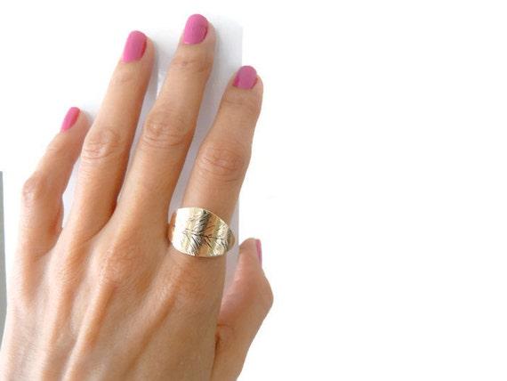 size 8 5 index finger ring sterling silver brass leaf ring