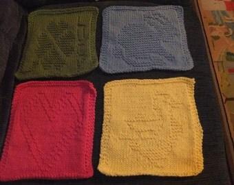 HOLIDAY DISHCLOTHS/Knitted Dishcloths