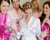 Bridal Party Robes Personalized Embroidery Monogram Single Initial SET OF 6 with Free Shipping for US