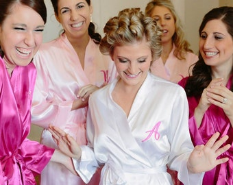 Monogrammed Robe, Robe PACKAGE OF 4, Bridal Party Robes, Bridesmaid Gifts and Bride Robes